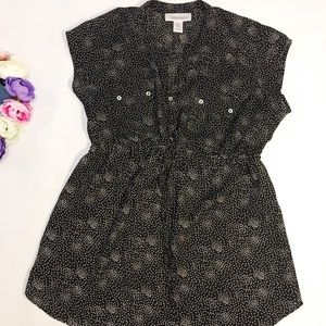 Motherhood Maternity black polka dot blouse top S